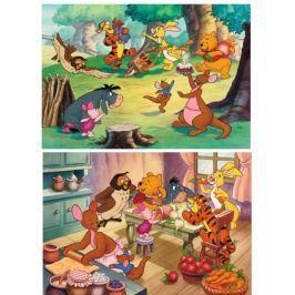 RAVENSBURGER Dětské puzzle  2x24 dílků - Oslava s Medvídkem Pú
