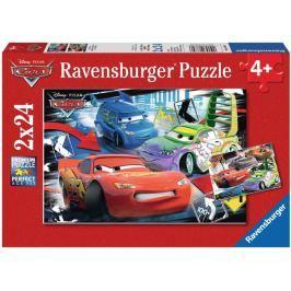 RAVENSBURGER Dětské puzzle  2x24 dílků - Cars (Auta): Blesk McQueen, D.J. & Wingo