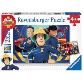 RAVENSBURGER Dětské puzzle  Požárník Sam 2x24 dílků