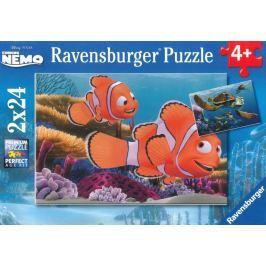 RAVENSBURGER Dětské puzzle  2x24 dílků - Hledá se Nemo: Dobrodružství 2v1