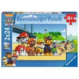 RAVENSBURGER Puzzle Tlapková patrola: Psí hrdinové 2x24 dílků
