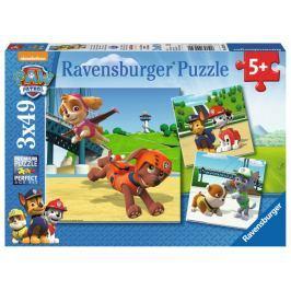RAVENSBURGER Puzzle Tlapková patrola: Čtyřnohý tým 3x49 dílků