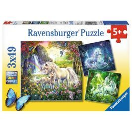RAVENSBURGER Dětské puzzle  3x49 dílků - Nádherní jednorožci