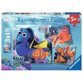 RAVENSBURGER Dětské puzzle  3x49 dílků - Hledá se Dory