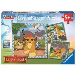 RAVENSBURGER Dětské puzzle  3x49 dílků - Lví hlídka: Strážci