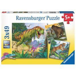 RAVENSBURGER Dětské puzzle  3x49 dílků - Pravěcí vládci 3v1