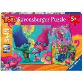 RAVENSBURGER Dětské puzzle  3x49 dílků - Trollové