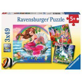 RAVENSBURGER Puzzle Svět fantazie 3x49 dílků