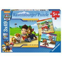 RAVENSBURGER Puzzle Tlapková patrola: Hrdinové 3x49 dílků