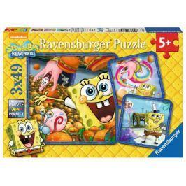 RAVENSBURGER Dětské puzzle  3x49 dílků - Spongebob