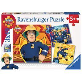 RAVENSBURGER Dětské puzzle  3x49 dílků - Požárník Sam v nebezpečí
