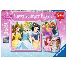 RAVENSBURGER Dětské puzzle  3x49 dílků - Disney princezny
