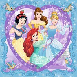 RAVENSBURGER Čtvercové puzzle Disney princezny 150 dílků