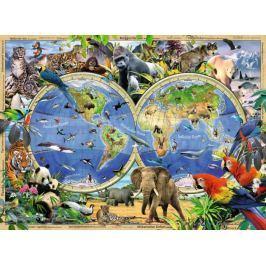 RAVENSBURGER Dětské puzzle  100 dílků - Svět divokých zvířat XXL