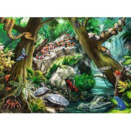 RAVENSBURGER Dětské puzzle  10703 Svět plazů a hmyzu 100 dílků