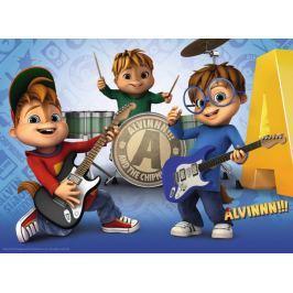 RAVENSBURGER Puzzle Alvin a Chipmunkové XXL 100 dílků