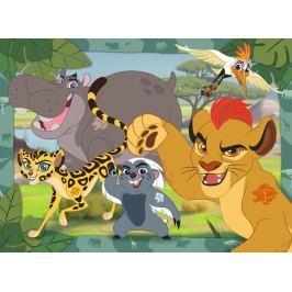 RAVENSBURGER Dětské puzzle  100 dílků - Lví hlídka: Kion a jeho přátelé XXL