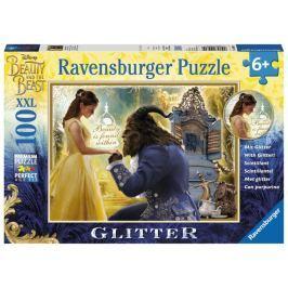 RAVENSBURGER Třpytivé puzzle Kráska a zvíře XXL 100 dílků
