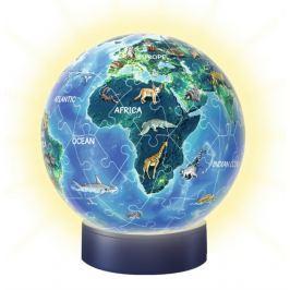 RAVENSBURGER Svítící puzzleball Noční globus 72 dílků