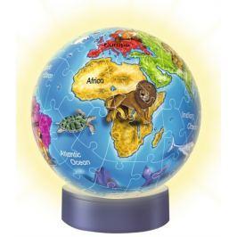 RAVENSBURGER Svítící puzzleball  Globus 72 dílků