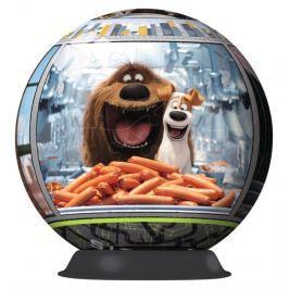 RAVENSBURGER Puzzleball  108 dílků - Tajný život mazlíčků