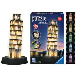 RAVENSBURGER Svítící 3D puzzle Noční edice Šikmá věž v Pise 216 dílků