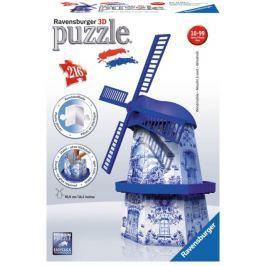 RAVENSBURGER 3D puzzle Větrný mlýn: Delftský styl 216 dílků
