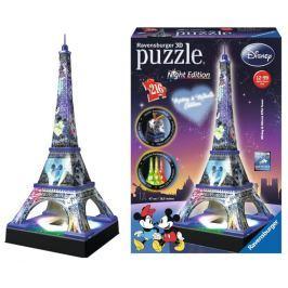 RAVENSBURGER Svítící 3D puzzle Noční edice Eiffelova věž s Disney motivem 216 dí