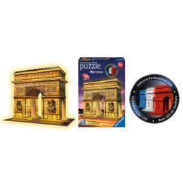 RAVENSBURGER Svítící 3D puzzle Noční edice Vítězný oblouk 216 dílků
