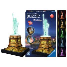 RAVENSBURGER 3D svítící puzzle  108 dílků - Noční socha Svobody