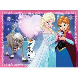 RAVENSBURGER Dětské puzzle  200 dílků - Ledové království: Sesterská láska XXL