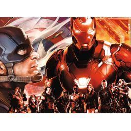 RAVENSBURGER Puzzle Avengers: Kapitán Amerika vs. Ironman XXL 300 dílků