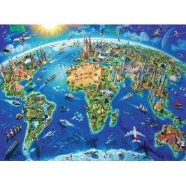 RAVENSBURGER Puzzle Mapa světových památek XXL 300 dílků