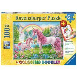 RAVENSBURGER Puzzle Magičtí jednorožci XXL 100 dílků + omalovánky