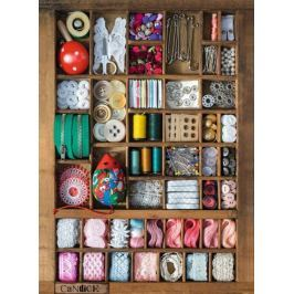 RAVENSBURGER Puzzle  500 dílků - Krabička na šití