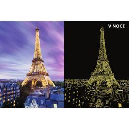 RAVENSBURGER Svítící puzzle  500 dílků - Překrásná Eiffelova věž