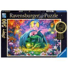 RAVENSBURGER Svítící puzzle Drak v lese 500 dílků