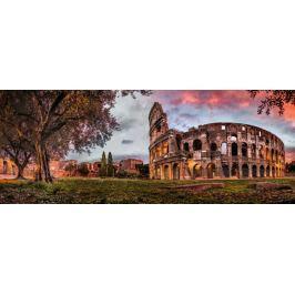 RAVENSBURGER Panoramatické puzzle Západ slunce nad Koloseem, Itálie 1000 dílků