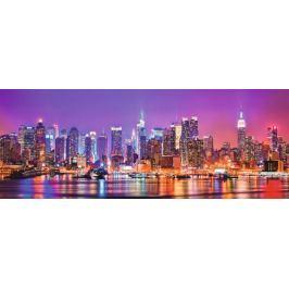 RAVENSBURGER Panoramatické puzzle Manhattanská světla 1000 dílků