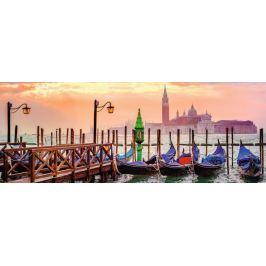 RAVENSBURGER Panoramatické puzzle Gondoly v Benátkách, Itálie 1000 dílků