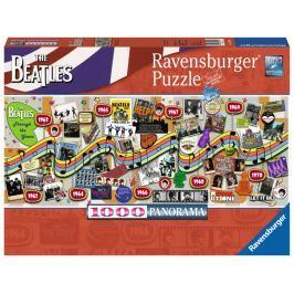 RAVENSBURGER Panoramatické puzzle The Beatles: Jak šel čas 1000 dílků