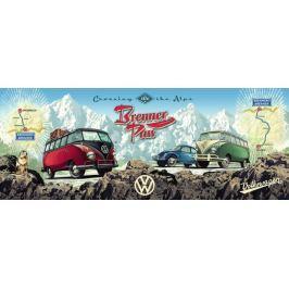 RAVENSBURGER Panoramatické puzzle Přes Alpy s VW 1000 dílků