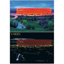 RAVENSBURGER Svítící puzzle Allianz aréna, Mnichov 1200 dílků