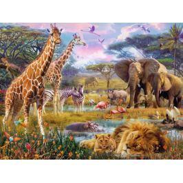 RAVENSBURGER Puzzle  1500 dílků - Barevná Afrika