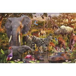 RAVENSBURGER Puzzle  3000 dílků - D.Penfound, Africká zvířata