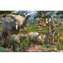 RAVENSBURGER Puzzle  3000 dílků - D.Penfound, Zvířata na safari