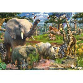 RAVENSBURGER Puzzle  18000 dílků - D.Penfound, Zvířata u zdroje vody