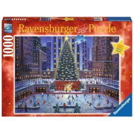 RAVENSBURGER Puzzle Rockefellerovo centrum o Vánocích 1000 dílků