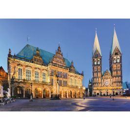 RAVENSBURGER Puzzle Noční radnice v Brémách 1000 dílků