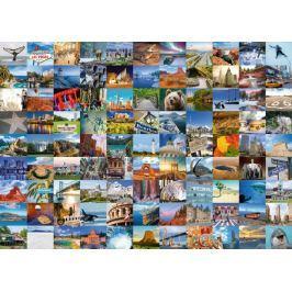 RAVENSBURGER Puzzle 99 nádherných míst v USA a Kanadě 1000 dílků